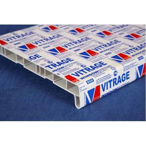 Подоконник пластиковый Витраж 500х1000 мм