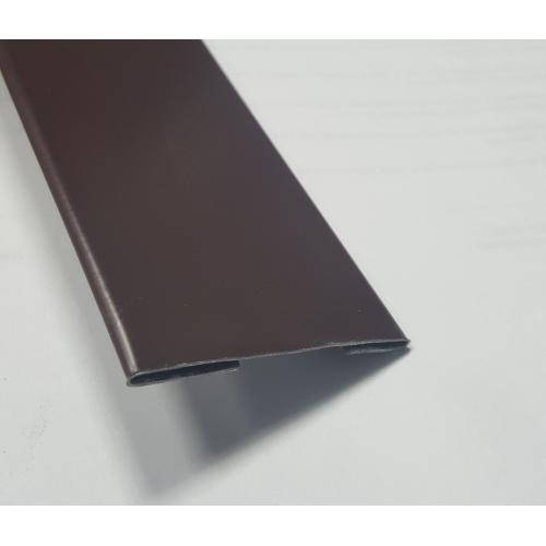 Нащельник полиэстер, Коричневый с полимерным покрытием 60 мм - 1 м.п.