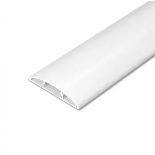 Наличник пластиковый ПВХ с кабель каналом 70мм белый 2,2м