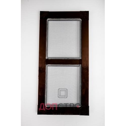 Москитная сетка на балконную дверь 32 Коричневая 1400х714 мм
