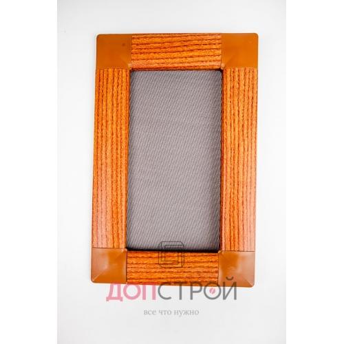 Москитная сетка LUX на флажках АнтиКошка Золотой дуб 1400х714 мм = 1 м. кв.
