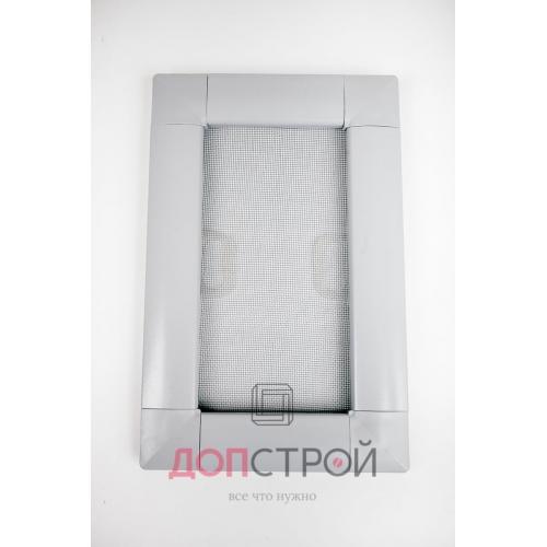 Москитная сетка LUX на флажках АнтиКошка Серая 1400х714 мм = 1 м. кв.