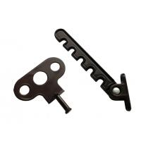 Гребенка (металл) на ручку коричневая