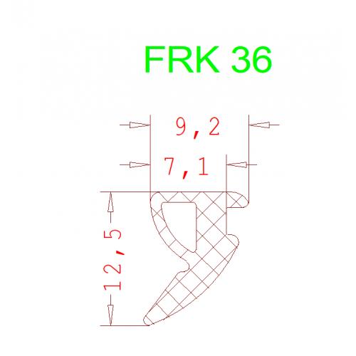 Уплотнитель Алютех FRK 36 5мм чёрный 1 метр.