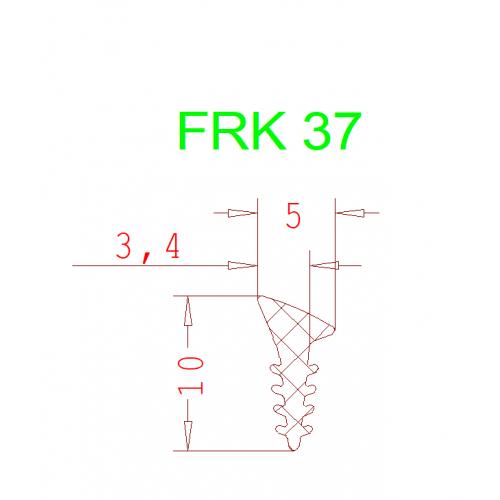 Уплотнитель Алютех FRK 37 2мм чёрный 1 метр.