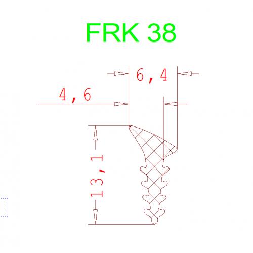 Уплотнитель Алютех FRK 38 3мм чёрный 1 метр.