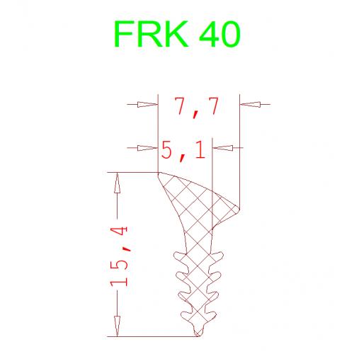Уплотнитель Алютех FRK 40 4мм чёрный 1 метр.